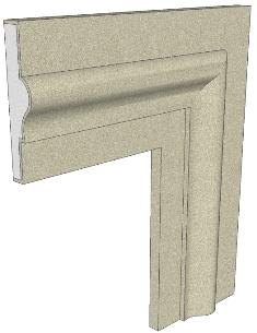Produciamo cornici per finestre in polistirolo preintonacato per decoro facciate ai migliori prezzi - Cornici finestre in pietra ...