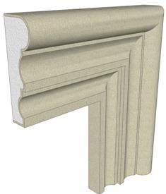 Produciamo cornici per finestre in polistirolo preintonacato per decoro facciate ai migliori prezzi - Cornici finestre in polistirolo ...